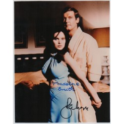 Roger Moore Madeline Smith James Bond genuine authentic autograph signed photo 6.