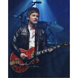 Noel Gallagher Oasis signed authentic genuine signature photo