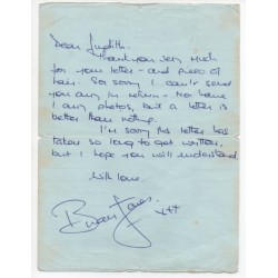 Brian Jones Rolling Stones signed authentic genuine signature letter