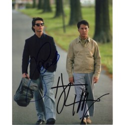 Tom Cruise Dustin Hoffman signed genuine signature authentic signed photo