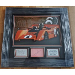 Bruce McLaren F1 CanAm signed genuine signature authentic photo display