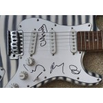 Coldplay Chris Martin authentic genuine signed guitar COA