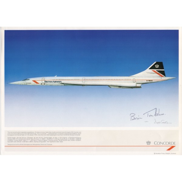 Concorde Brian Trubshaw signed flown autograph image 3