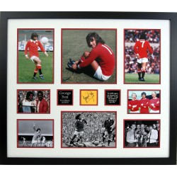 George Best Man United Football genuine signature authentic photo display