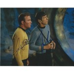 William Shatner and Leonard Nimoy hand signed Star Trek autographed photo