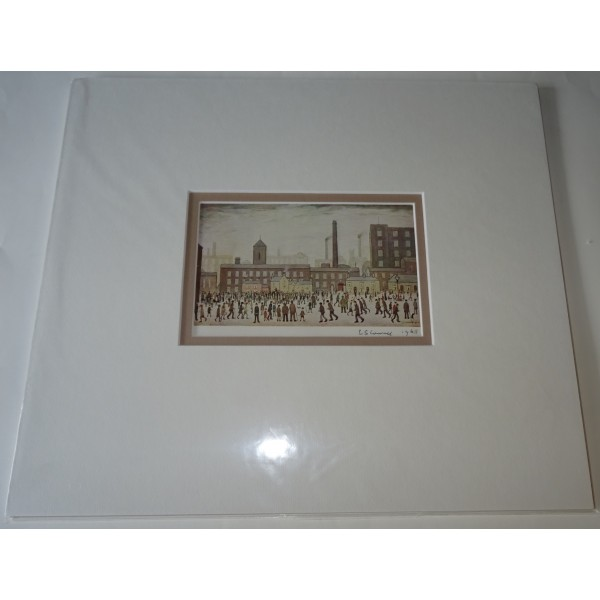L S Lowry authentic genuine signature signed postcard
