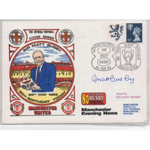 Matt Busby Man United genuine authentic autograph signed FDC cover