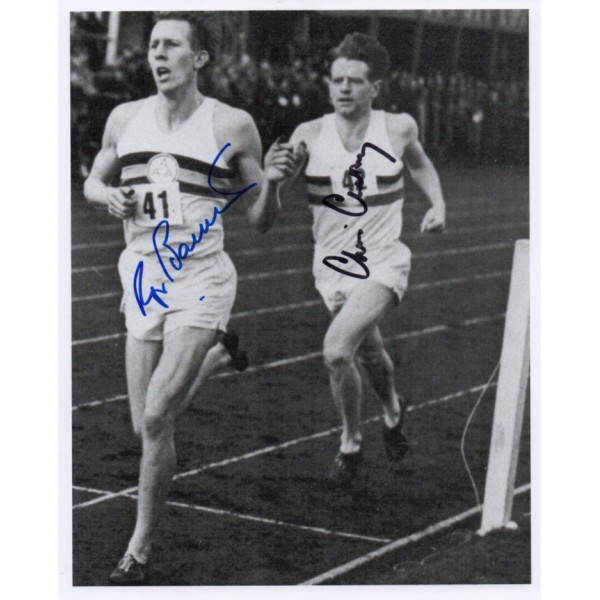Roger Bannister Chris Chataway signed authentic genuine signature photo