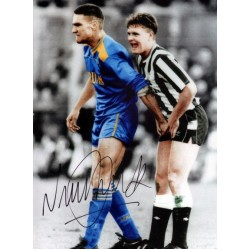 Vinnie Jones ball squeeze genuine signed authentic signature photo