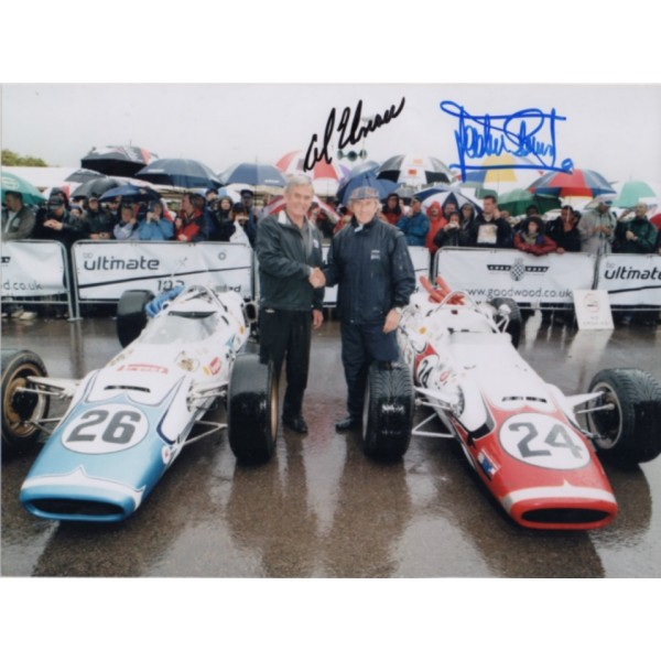 Jackie Stewart Al Unser genuine signed autograph photo