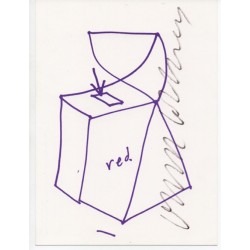 David Hockney Cubist Postbox authentic genuine signed postcard