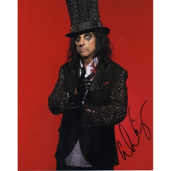 Alice Cooper authentic genuine authentic genuine signed photo