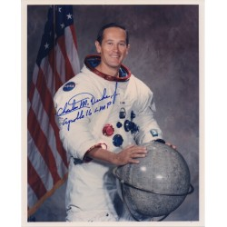 Charlie Duke Apollo 16 genuine authentic autograph signed photo.