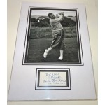 Bobby Locke golf  genuine signed autograph signature display.