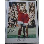 Denis Law Man United football genuine authentic autograph signed photo 2