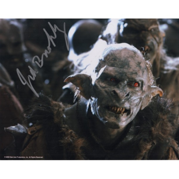 Jed Brophy Lord of the Rings genuine signed autograph photo