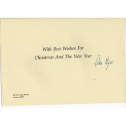 John Major PM politics authentic genuine signed Christmas Card