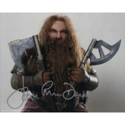 John Ryhs Davies Lord of the Rings genuine signed authentic signature photo