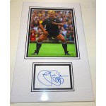 Jonah Lomu rugby genuine signed autograph signature display.