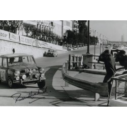 Paddy Hopkirk Mini Monte Carlo Rally genuine authentic autograph signed photo