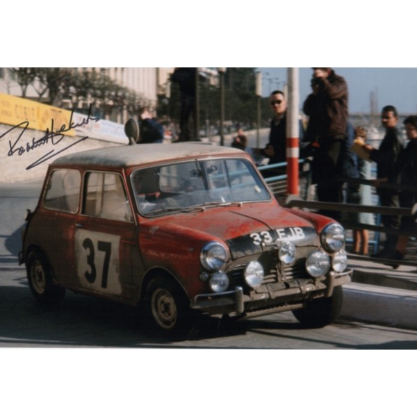 Paddy Hopkirk Mini Rally genuine authentic signed autograph photo 5