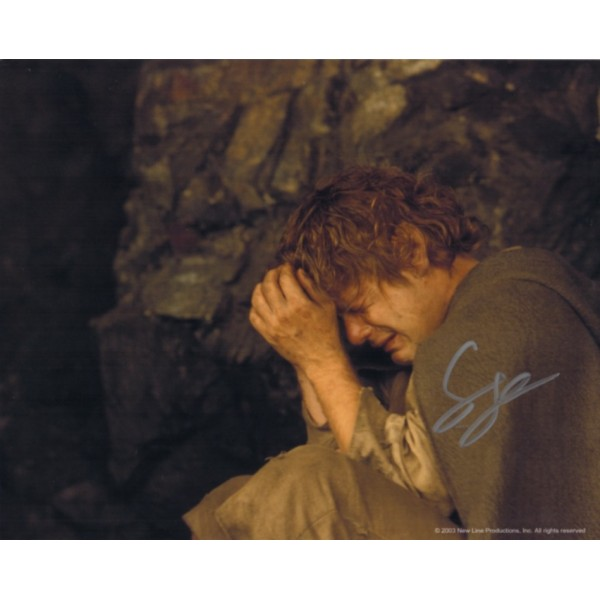 Sean Astin  Lord of the Rings genuine signed authentic signature photo