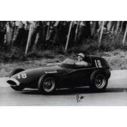 Stirling Moss Vanwall genuine authentic autograph signed photo.