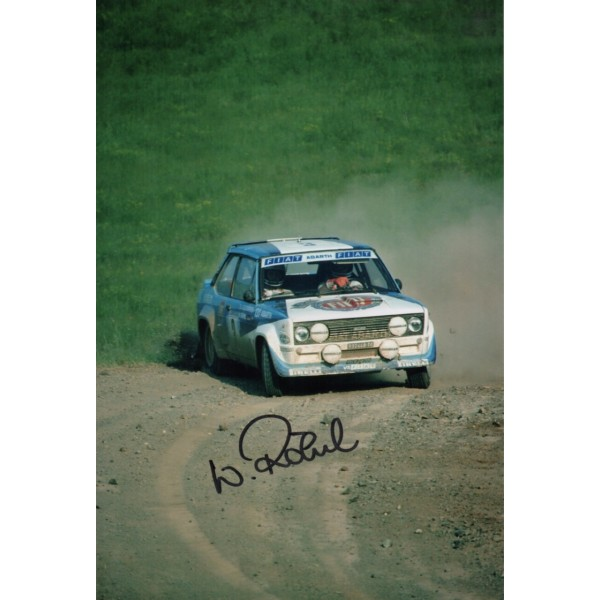 Walter Rohrl Fiat Rally genuine authentic autograph signed photo.