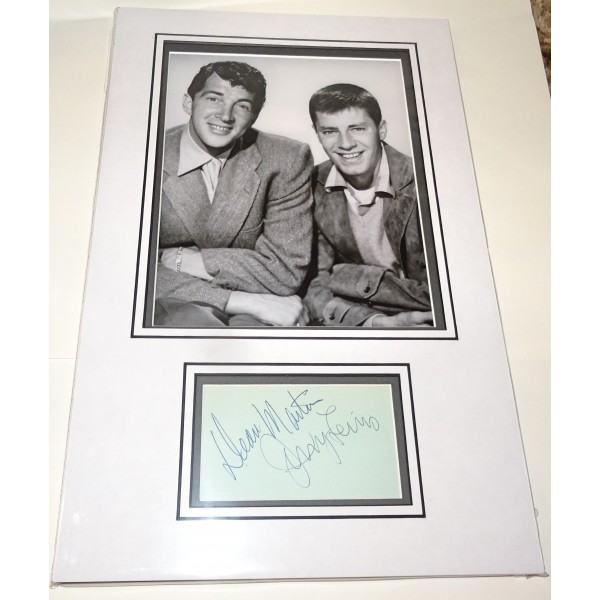 Dean Martin Jerry Lewis genuine authentic autograph signature photo display
