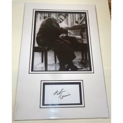 Fats Domino genuine authentic autograph signature photo display