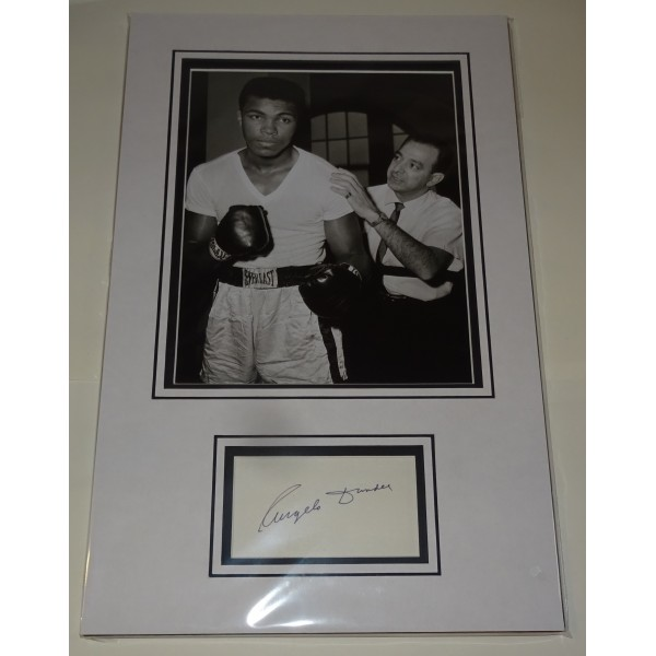 Angelo Dundee genuine authentic autograph signature photo display