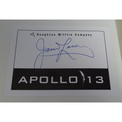 Jim James Lovell Apollo 13  genuine authentic autograph signed book.