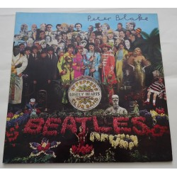 "Peter Blake Sgt Pepper authentic genuine signature signed 12"" vinyl record sleeve"