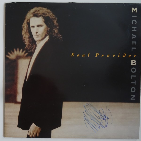 Michael Bolton signed authentic genuine signature album UACC AFTAL
