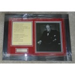 Winston Churchill authentic signed genuine autograph signature photo display
