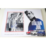 Michael Caine Italian Job signed authentic genuine signature photo display
