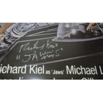 Richard Kiel Jaws James Bond large signed authentic genuine signature poster UACC AFTAL