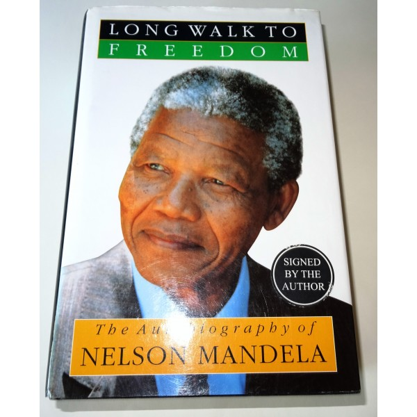 Nelson Mandela signed genuine signature book