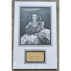 Vivien Leigh Gone with the Wind genuine authentic signed autograph display 2
