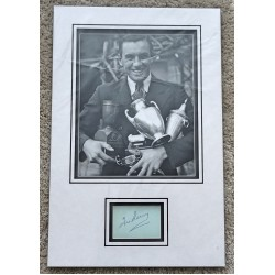 Fred Perry Tennis signed authentic genuine signature autograph display COA AFTAL RACC