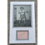 Freddie Mills Boxing signed authentic genuine signature autograph display COA RACC AFTAL