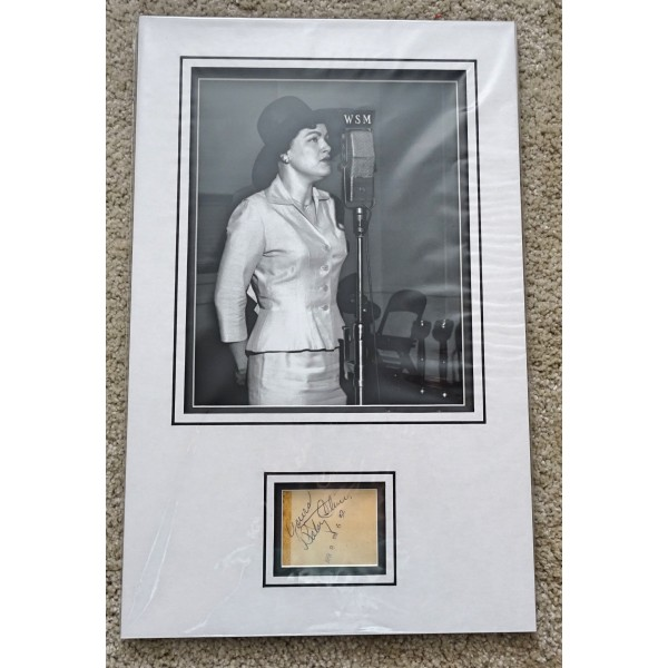Patsy Cline genuine authentic signed autograph photo display COA UACC RACC