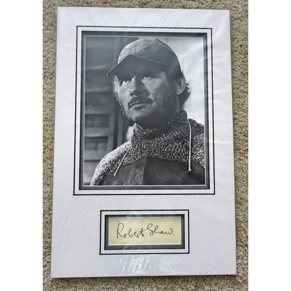 Robert Shaw genuine authentic signed autograph photo display COA UACC RACC
