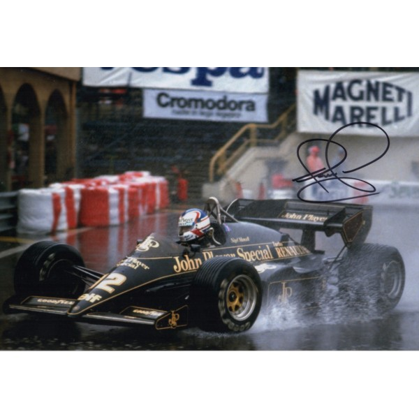 Nigel Mansell Lotus F1 world champion signed genuine signature photo COA UACC