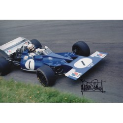 Jackie Stewart F1 Tyrrell world champion signed genuine signature photo COA AFTAL