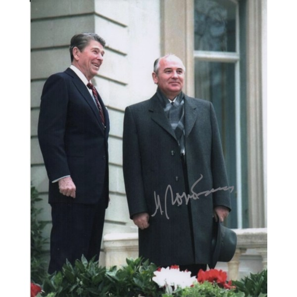 Mikhail Gorbachov authentic signed genuine signature photo COA AFTAL UACC