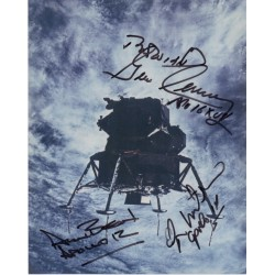Apollo Gene Cernan Alan Bean Edgar Mitchell signed genuine photo UACC