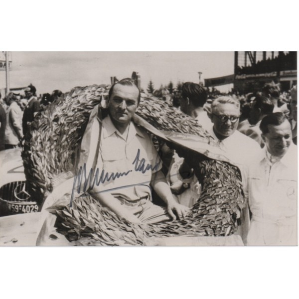 Herman Lang Mercedes signed authentic genuine signature photo UACC AFTAL