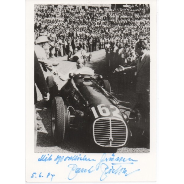 Paul Pietsch F1 Maserati signed authentic genuine signature photo UACC AFTAL
