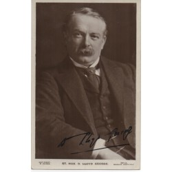 David Lloyd George PM signed authentic genuine signature photo UACC AFTAL